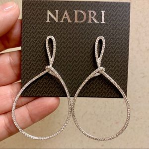 Nadri large hoop Lasso earrings